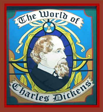 World of Charles Dickens Sign